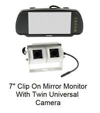 "Parksafe PS7006C09W 7"" clip on mirror monitor and twin Universal Rear cameras"