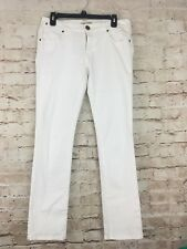 CAbi White Indie Straight Leg Stretch Cotton Blend Jeans Size 6 Style 752