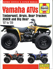 Haynes Manual 2126 - Yamaha ATVs Timberwolf/Bruin/Bear Tracker/350ER/Big Bear