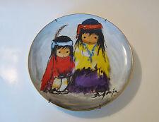 """De Grazia Porcelain Collector Plate Ltd.Ed. # 6,561/10,000 *Wondering* -10 1/4""""D"""