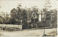 1900's PRESBYTERIAN CHURCH & MANSE WAHROONGA NSW PHOTO POSTCARD