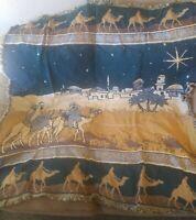 Gold, Frankincense & Myrrh 3 Wise Men Tapestry Couch Throw