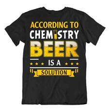 Chemistry Beer Solution T-SHIRT Realist Beer Glass TEE Drinking Party Bar SHIRT
