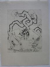 Horst Janssen (1929-1995) Wilden Schwänze mit lahmen Affen Orig. Radierung 1996