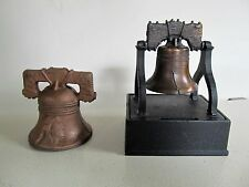 Vintage Cast Iron Liberty Bell and bell coin banks
