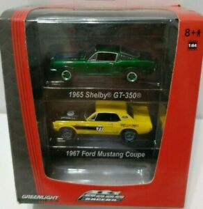 GREENLIGHT GREEN MACHINE 2 PACK 1965 SHELBY GT350 AND 1967 MUSTANG CHASE RARE