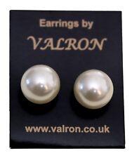 White Faux Pearl Ball Stud Earring (15mm)