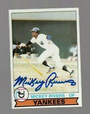 Mickey Rivers 1979 Topps Autograph Signed Card 100% Guaranteed