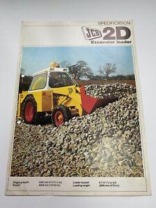 JCB 2D Excavator Loader Sales Brochure