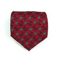 Utopia Men's Tie Handmade Red Anchor Compass Nautical Novelty Necktie 56""