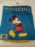 Disney Mickey Mouse 100% Waterproof Vinyl Adult Poncho Hiking  Camping New