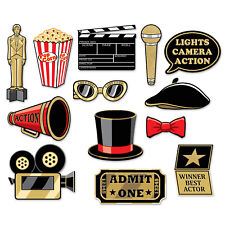 AWARDS NIGHT Hollywood Red Carpet PHOTO FUN SIGNS PROPS New Years Eve Party Pict