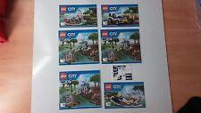 LEGO CITY!!! instructionsand ADESIVI solo!!! PER 60069 Stazione di Polizia della palude