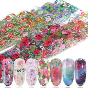4*100cm Nail Art Transfer Wrap Foil Sticker Glitter Tip Decal Decoration DIY