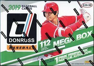 2019 Panini Donruss Baseball Mega Box (1 Pink Firework Auto Per Box on Average!)