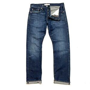 GAP 1969 Japanese Selvedge 32 x 31 Denim Jeans Slim Straight Fit Men's Blue
