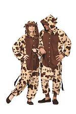 ADULT BULL COW COSTUME MOO COW FARM ANIMAL PAJAMAS COSTUMES JUMPSUIT 40024