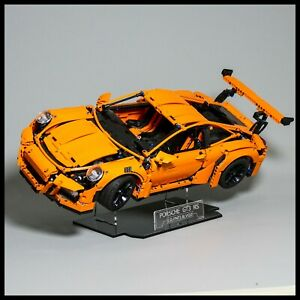 Porsche 911 GT3 RS Acrylic Display Stand for LEGO model 42056