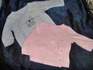 BABIES CUTE LITTLE WRAP OVER VELOUR CARDIGAN  -SIZES 0-3  3-6  6-9  9-12M PINK B