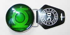 Green Lantern Epoxy Fill Logo Metal Belt Buckle, NEW UNUSED