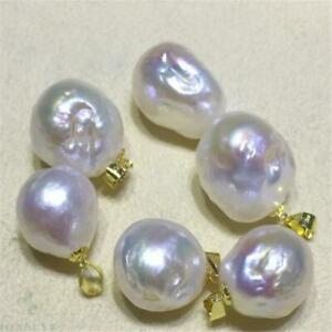 Wholesale Pearl Charms Small White Pearls Pendant Bulk Flawless Luxury Natural