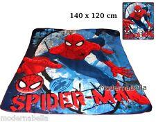 Spiderman Coperta copertina in Pile Plaid Lenzuolo 140x120 originale bimbo