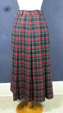 Vintage Tartan Plaid Lined Wool Pleated Skirt Herman Geist Size 10