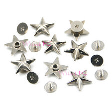 Metal Star Rivets Studs Rivet Spikes Spot Buttons Fasteners for Leather Belt Bag