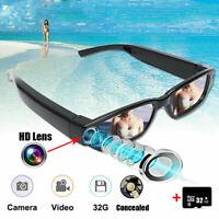 1080P HD Camera Sun Glasses Spy Hidden Eyeglass DVR Video Eyewear 32GB Recorder
