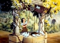 disney animation cel snow white and the seven dwarfs im wishing rare art cell