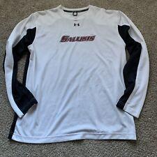 Official NCAA SIU Salukis Womens Hooded Fleece V-Neck Baseball Sweatshirt
