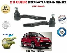 FOR FIAT 500L 2013--> 2 X OUTER LEFT RIGHT STEERING RACK TRACK ROD END SET