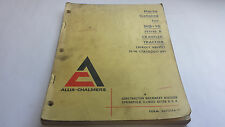 Allis-Chalmers Parts Catalog for HD-16 Series B Crawler tractor (Direct Drive)