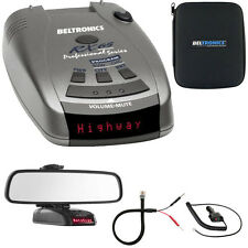 Beltronics RX65 Red Professional Series Radar/Laser Detector w/ Mirror Mount Kit