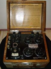 Vintage Industrial Instruments Mdoel RN-1 Wheastone Bridge Galvanometer in Case