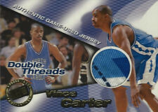1998-99 Vince Carter Glen Rice Press Pass Double Thread JERSEYS 19/425 ROOKIE RC