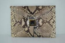 Kara Ross Beige/Brown Python Envelope Clutch/Handbag/Purse