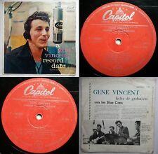 GENE VINCENT A RECORD DATE 1958 PROMO UNIQ CVR RED CAPITOL TOP RARE CHILEAN PRES