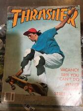 Thrasher Skateboard Magazine October/November 1986 Tony Hawk 10/11/86 Oct Nov
