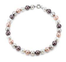 Authentic JOIA De Majorca Mauve Hues Round Pearl Necklace, 12 mm