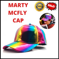MARTY MCFLY Hat Cap Rainbow Color Changing Baseball Back to the Future Cap Hats