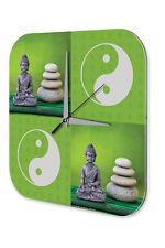 Wanduhr Kirche  Yin Yang Buddha Acryl Wand Deko Uhr Nostalgie