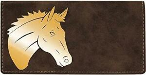 Majestic Horse Laser Engraved Leatherette Checkbook Cover