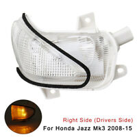 Right Driver Side Door Wing Mirror Indicator Clear For Honda Jazz Mk3 2008-2015