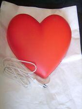Applique murale en forme de coeur rouge avec interrupteur et cordon neuve