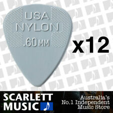12 x Jim Dunlop Nylon Standard Greys .60mm Guitar Picks Plectrums 0.60 Grey