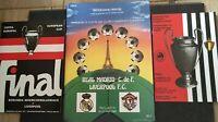 1977 & 1981 & 1985 LIVERPOOL EUROPEAN CUP FINAL REPLICA PROGRAMMES   ALL MINT