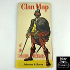Vintage CLAN MAP OF THE SCOTTISH HIGHLANDS Johnston & Bacon LARGE FOLDOUT MAP