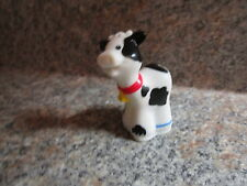 Fisher Price Little People cow calf baby farm barn pasture red bell bovine cute