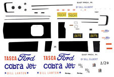 Bill Lawton Tasca Ford Cobra Jet 1968 2010 DRAG 1/25th - 1/24th Scale DECALS